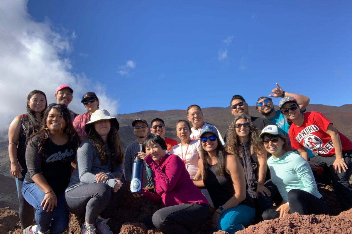 Student group at Maunakea