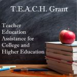 Chalkboard background with TEACH Grant Acronym meaning