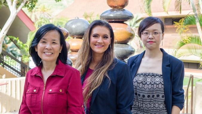 Winners of the Teaching and Learning Award: Helen Torigoe, Jamie Sickel and Youxin Zhang