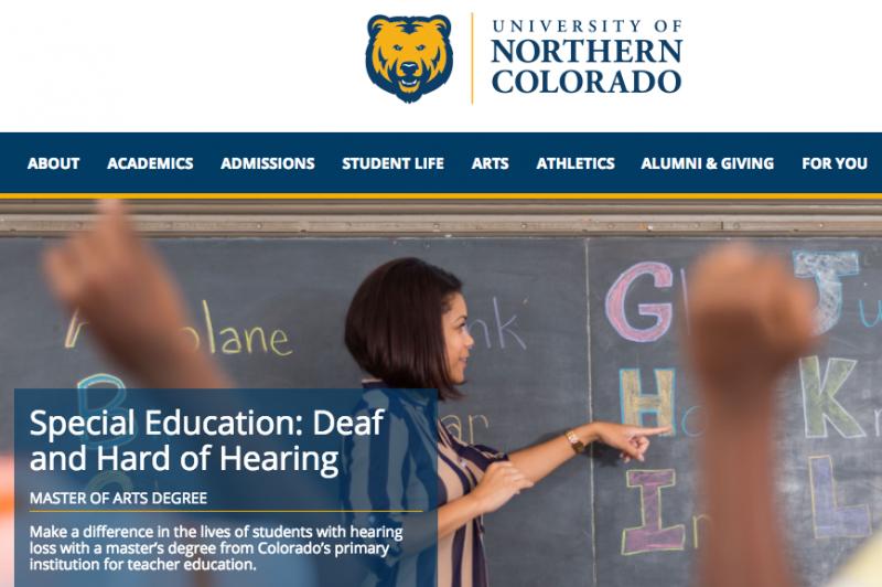 UNCO Deaf Hard of Hearing Program Website