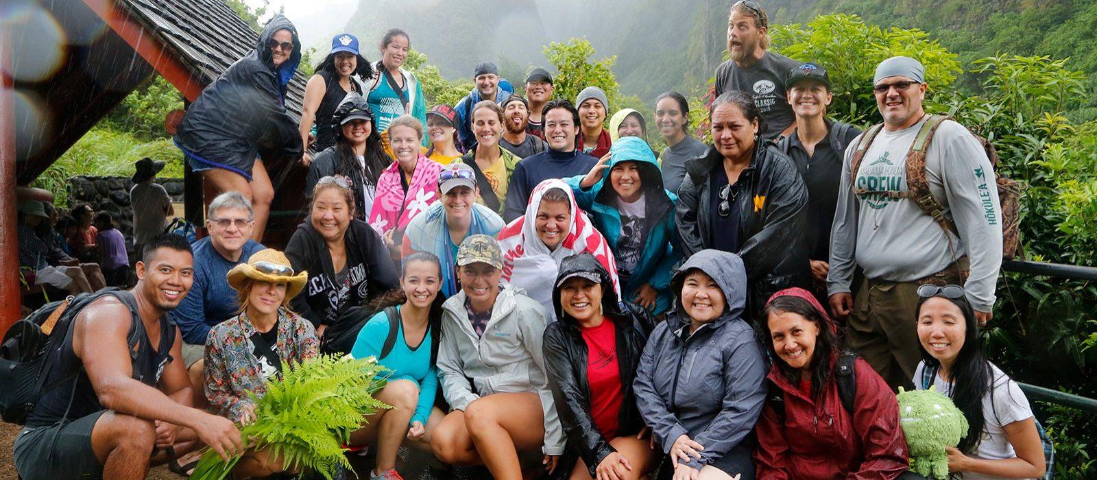 Group at Iao Needle