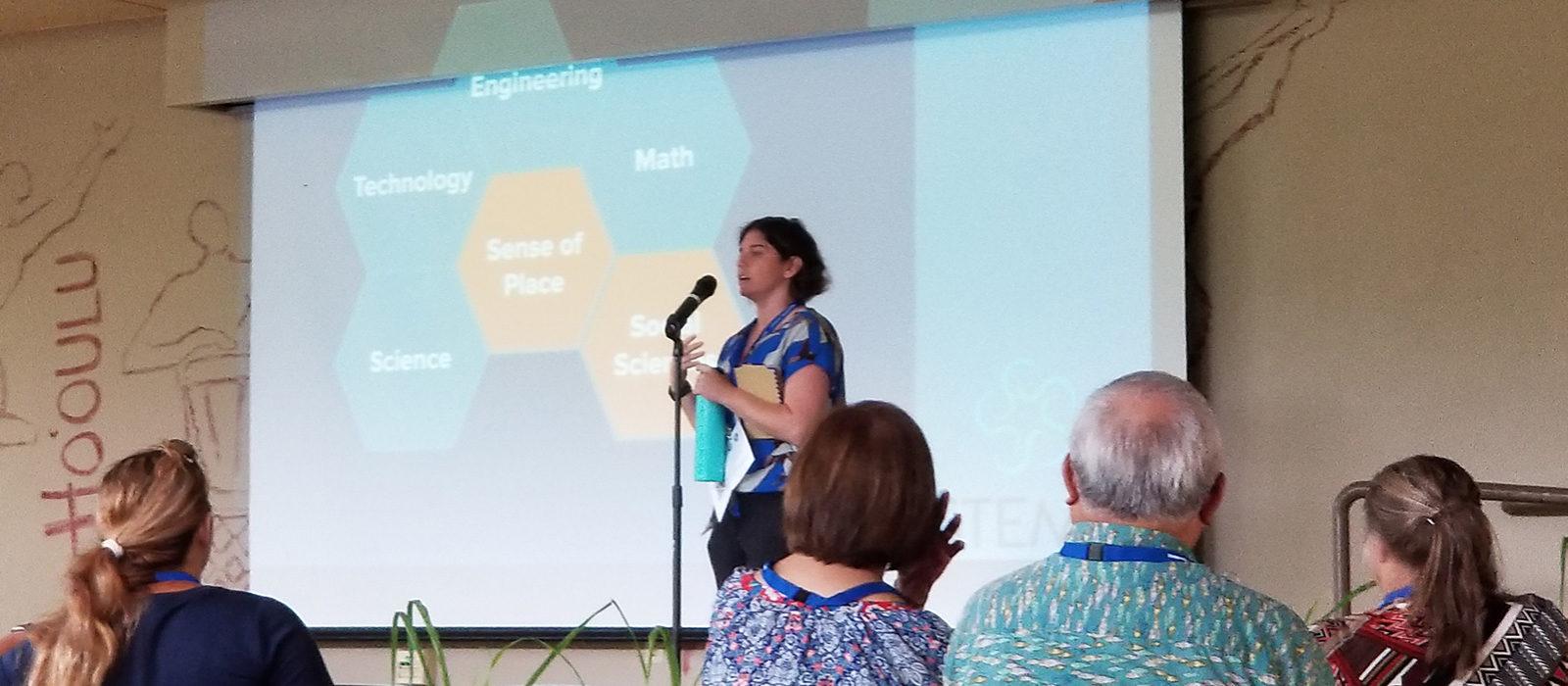 Tara introducing Symposium