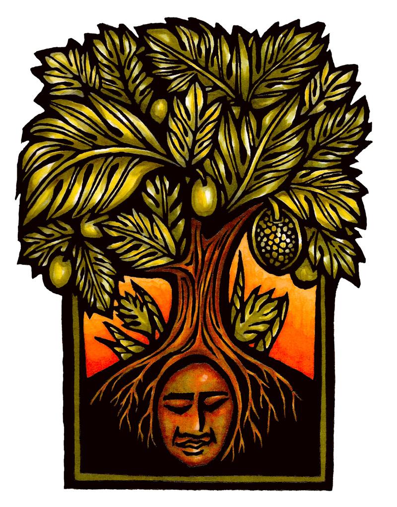 ulu tree illustration with ku