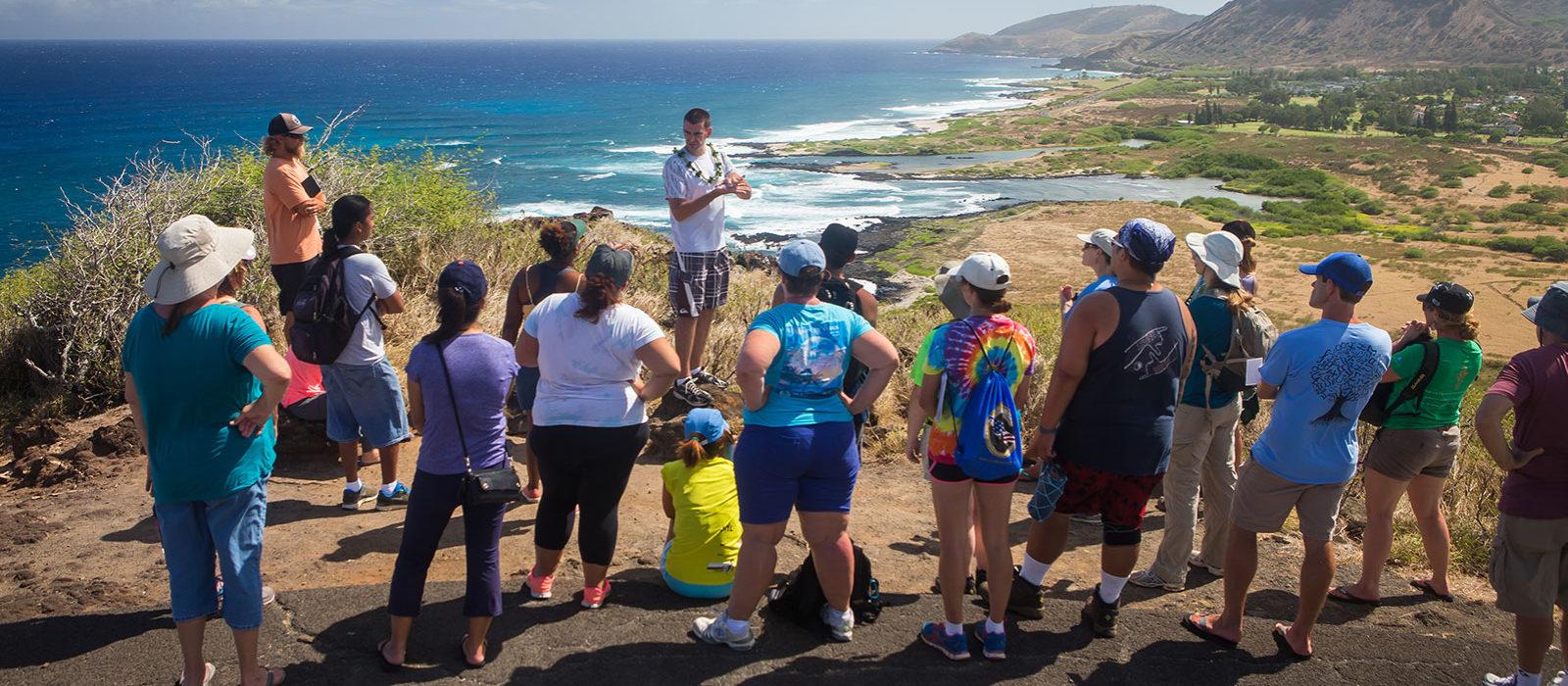 Students on Makapuu trail