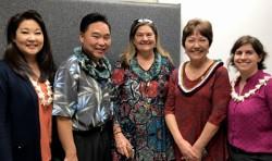 COE faculty with Kidani