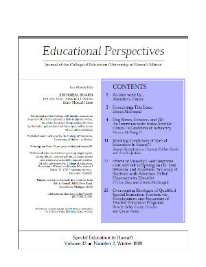 Ed Perspectives Winter 1999