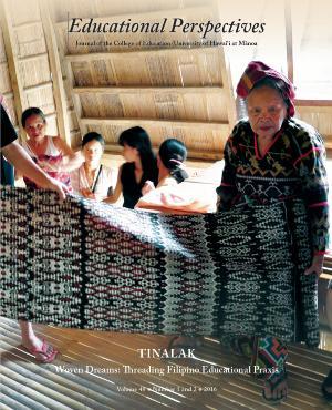 Woman Holding Tinalak Cloth