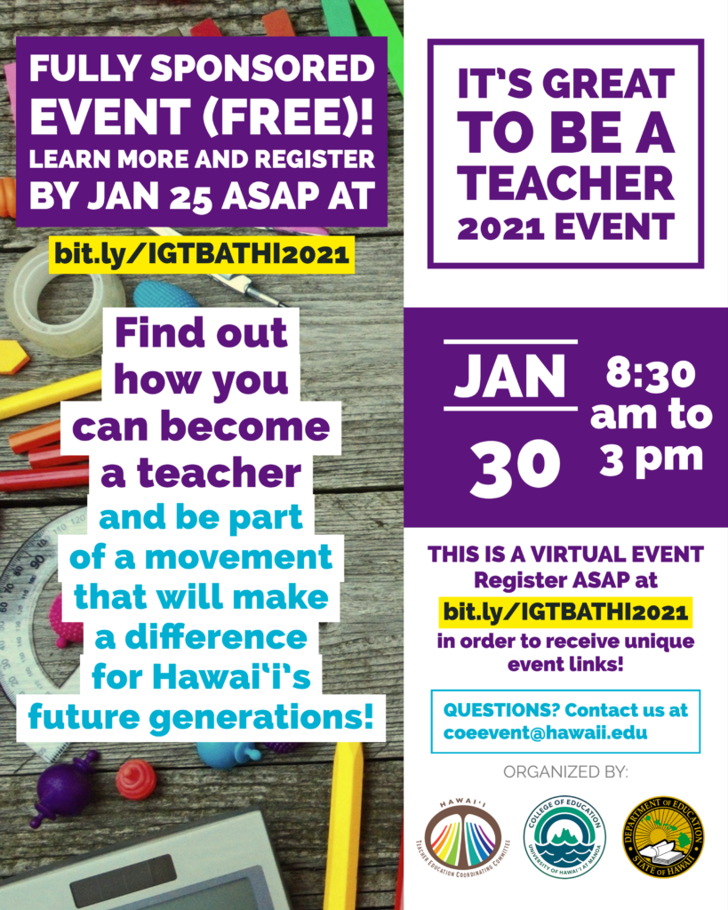 Flyer for 2021 IGTBAT event