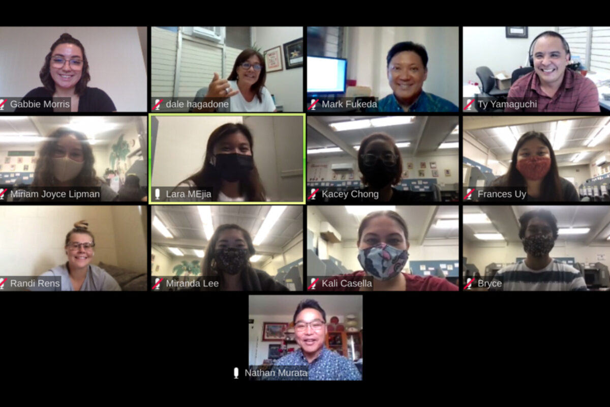 UHF student fundraisers on Zoom with Dean Murata